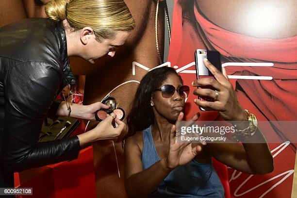 Guests attend the MAC Cosmetics Event With Isabel Bedoya At MAC Harlem on September 8 2016 in New York City