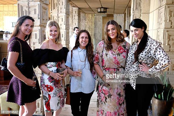 Guests attend the MAC Cosmetics Zac Posen luncheon at the Ennis House hosted by Karen Buglisi Weiler Demi Moore Jacqui Getty on February 25 2016 in...