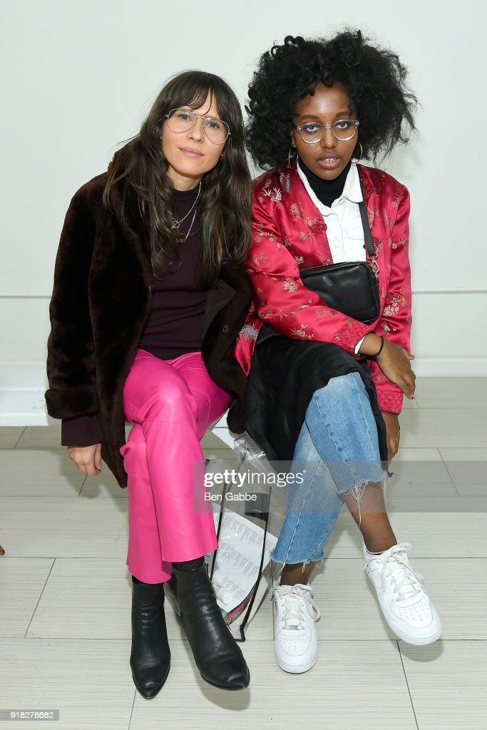 Guests attend the Maki Oh fashion show during New York Fashion Week on February 14, 2018 in New York City.