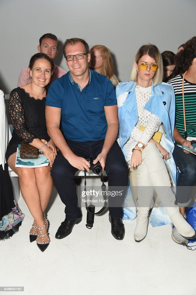 Guests attend the Marcel Ostertag fashion show during New York Fashion Week: The Shows at Gallery 3, Skylight Clarkson Sq on September 13, 2017 in New York City.