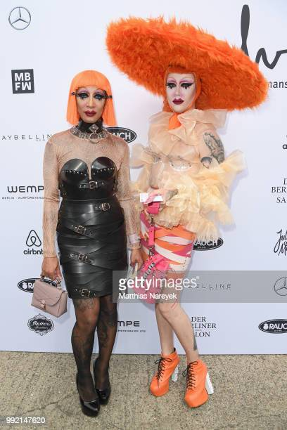 Guests attend the Marina Hoermanseder show during the Berlin Fashion Week Spring/Summer 2019 at ewerk on July 5 2018 in Berlin Germany