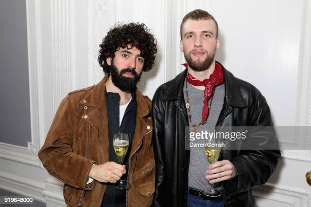 Guests attend the MATCHESFASHIONCOM X KATHARINE HAMNETT LFW SS18 event at ICA on February 17 2018 in London England