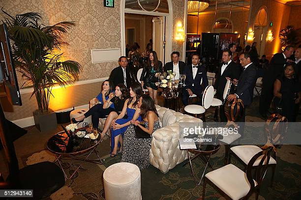 Guests attend the MercedesBenz and African American Film Critics Association Oscar viewing party at Four Seasons Hotel Beverly Hills on February 28...