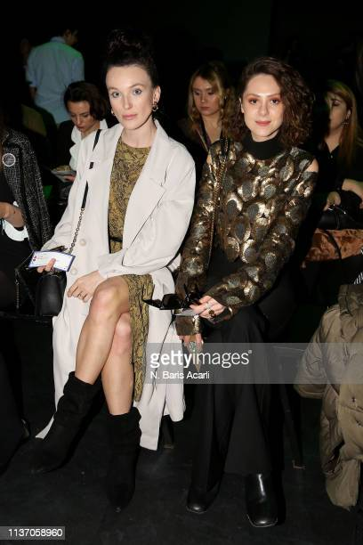 Guests attend the MercedesBenz Fashion Week Istanbul March 2019 at Zorlu Center on March 20 2019 in Istanbul Turkey