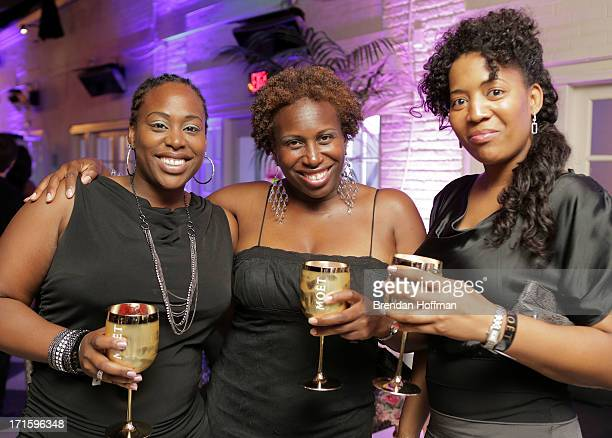 Guests attend the Moet Rose Lounge DC hosted by Wale to celebrate the release of The Gifted at W POV Terrace on June 26 2013 in Washington DC