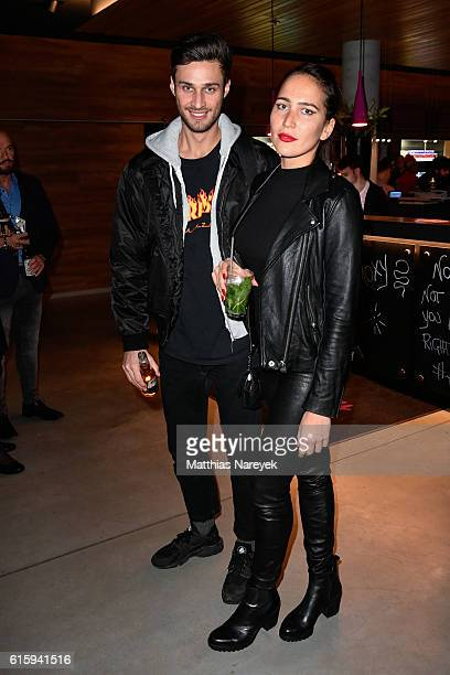 Guests attend the Moxy Berlin Hotel Opening Party on October 20, 2016 in Berlin, Germany.