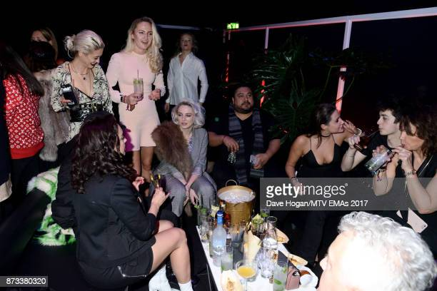 Guests attend the MTV EMAs 2017 after show party at Fountain Studios on November 12 2017 in London England