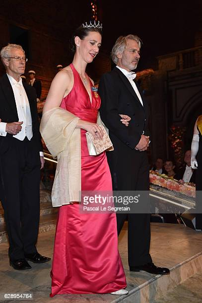 Guests attend the Nobel Prize Banquet 2015 at City Hall on December 10 2016 in Stockholm Sweden