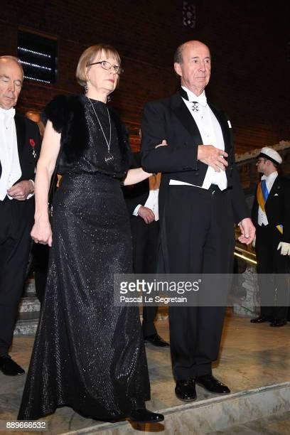 Guests attend the Nobel Prize Banquet 2017 at City Hall on December 10 2017 in Stockholm Sweden