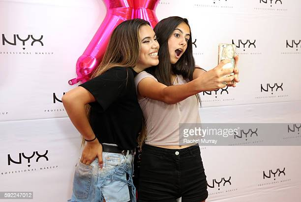 Guests attend the NYX Professional Makeup Store Glendale Galleria Influencer Meet Greet with Top Beauty Influencer Adelaine Morin @adelainemorin at...