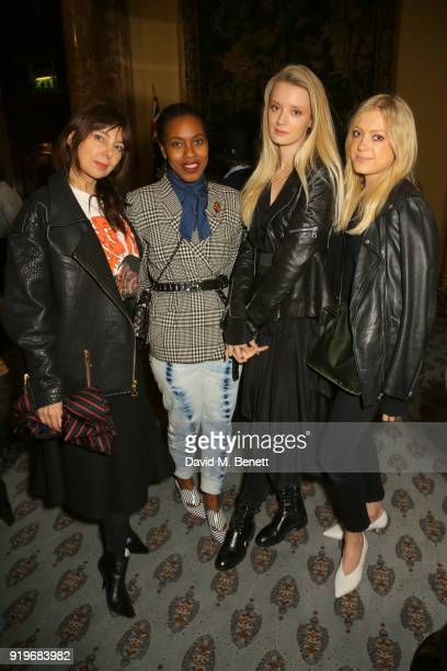 Guests attend the Opening evening for the Australian Fashion Council's inaugural showroom in London celebrating KitX and sustainable fashion at...