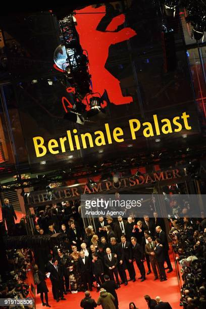 Guests attend the opening night of the film 'Isle of Dogs' during the 68th Berlin international Film Festival 'Berlinale' in Berlin Germany on...