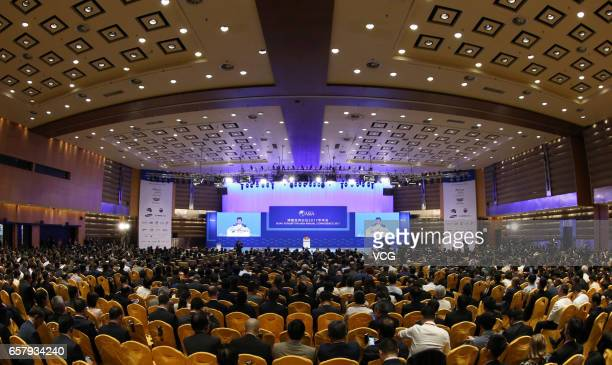 Guests attend the opening of Boao Forum for Asia Annual Conference 2017 on March 25 2017 in Qionghai Hainan Province of China The Boao Forum for Asia...