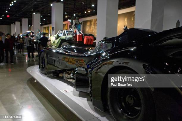 Guests attend the opening of the new exhibit Hollywood Dream Machines Vehicles Of Science Fiction And Fantasy at Petersen Automotive Museum on May 04...