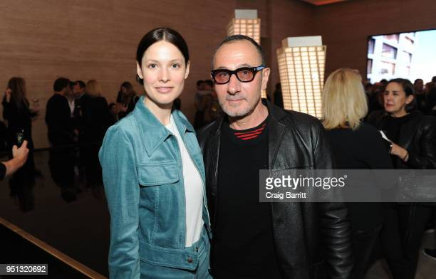 Guests attend the opening of The XI Gallery With Bjarke Ingels Es Devlin and Helene Ziel Feldman on April 25 2018 in New York City