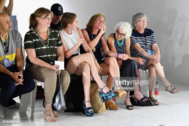 Guests attend the Parke Ronen Spring 2018 show on July 12 2017 in New York City
