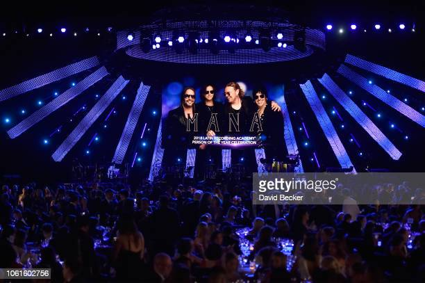 Guests attend the Person of the Year Gala honoring Mana during the 19th annual Latin GRAMMY Awards at the Mandalay Bay Events Center on November 14...