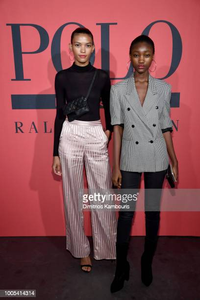 Guests attend the Polo Red Rush Launch Party with Ansel Elgort at Classic Car Club Manhattan on July 25 2018 in New York City