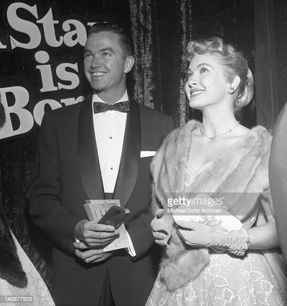 Guests attend the premiere of the Warner Bros film 'A Star Is Born' on September 29 1954 in Los Angeles California