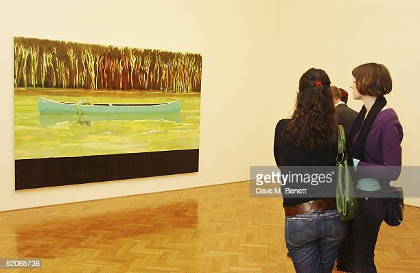 Guests attend the Private View for The Triumph Of Painting at the Saatchi Gallery County Hall on January 25 2005 in London Charles Saatchi's latest...