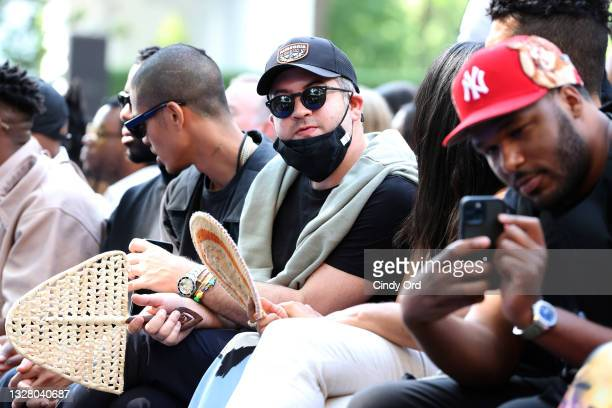 Guests attend the Pyer Moss Couture Haute Couture Fall/Winter 2021/2022 show as part of Paris Fashion Week on July 10, 2021 in Irvington, New York.
