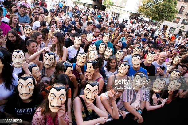 Guests attend the red carpet of 'La Casa De Papel' 3rd Season by Netflix on July 11, 2019 in Madrid, Spain.