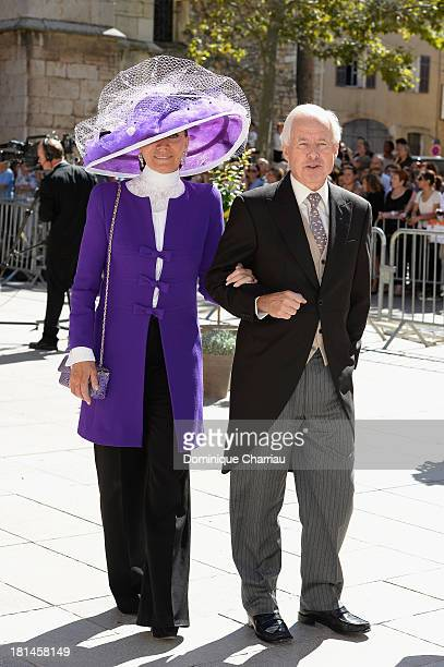 Guests attend the Religious Wedding Of Prince Felix Of Luxembourg Claire Lademacher at Basilique Sainte MarieMadeleine on September 21 2013 in...