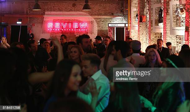 Guests attend the REVIEW by Sami Slimani Capsule Collection launch party on March 31 2016 in Duesseldorf Germany
