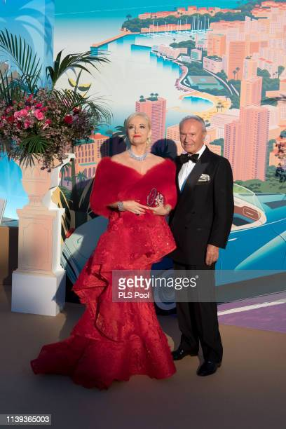Guests attend the Rose Ball 2019 to benefit the Princess Grace Foundation on March 30 2019 in Monaco Monaco