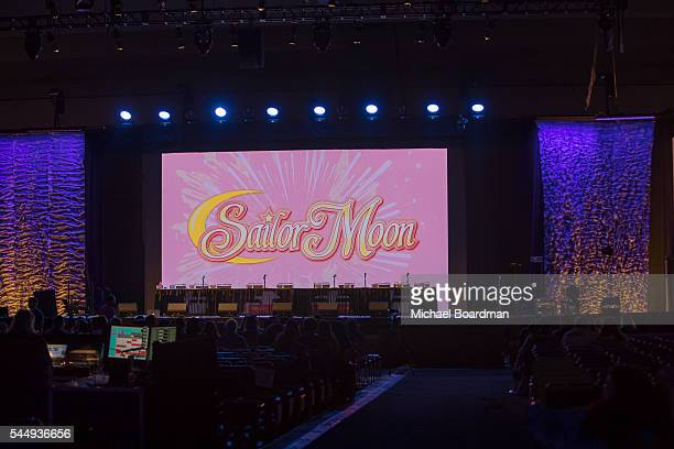 Guests attend the Sailor Moon Panel at the Anime Expo 2016 at Los Angeles Convention Center on July 03 2016 in Los Angeles California
