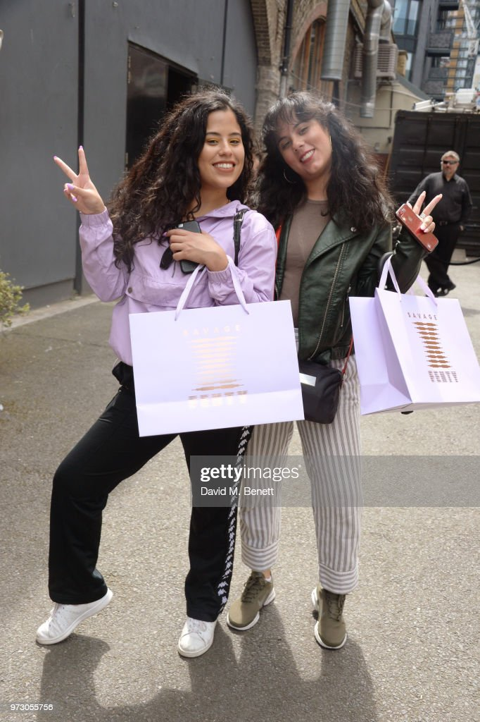 Guests attend the Savage X Fenty London Pop Up Shop at Shoreditch Studios on June 13, 2018 in London, England.