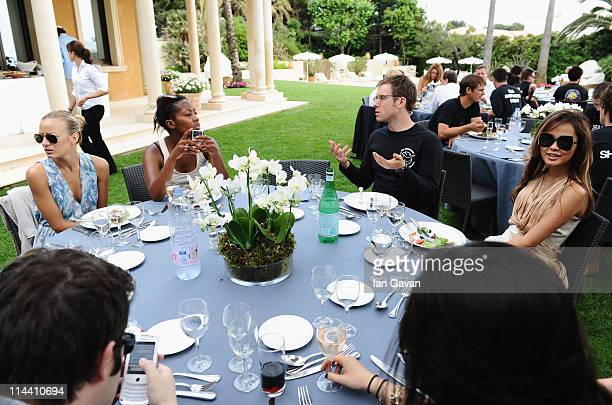 Guests attend the Sea Shepherd lunch sponsored by producers Mohammed Al Turki and Hamza Talhouni honoring Michelle Rodriguez and Paul Watson held at...