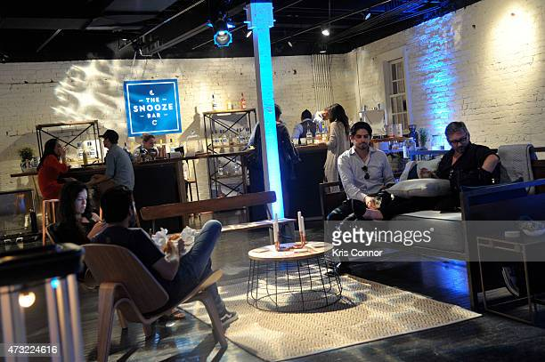 Guests attend the Snooze Bar Tour KickOff presented by Casper at 3330 Cady's Alley on May 13 2015 in Washington DC