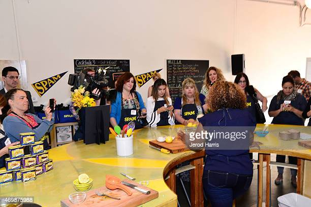Guests attend the SPAMERICAN Tour KickOff hosted by Sunny Anderson on April 15 2015 in Los Angeles California
