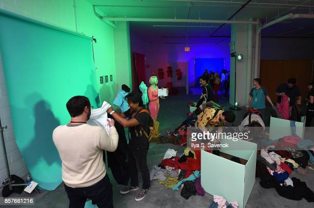 Guests attend the Special Escape Room Experience created by Spotify for St Vincent and their bggest fans to celebrate forthcoming album Masseduction...