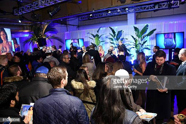 Guests attend the Sports Illustrated Swimsuit 2016 Swim City at the Altman Building on February 15 2016 in New York City