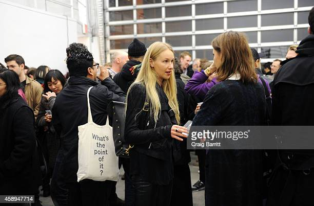 Guests attend the Swiss Institute launch celebration of Hans Ulrich Obrist's new book Ways Of Curating on November 13 2014 in New York City