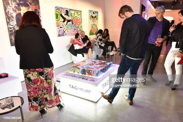 Guests attend the TAG Heuer celebration of Art Basel Miami 2018 with the launch of Alec Monopoly's special edition timepieces on December 6 2018 in...