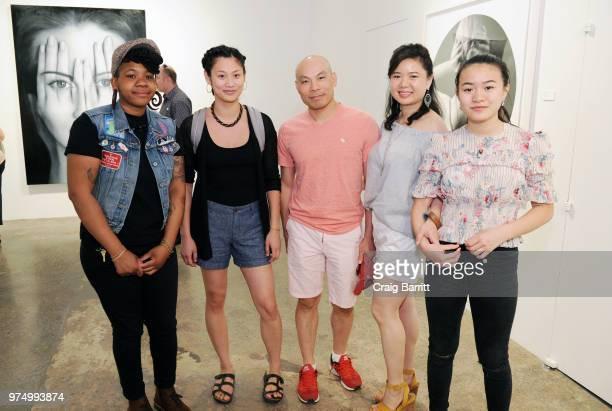 Guests attend the Tigran Tsitoghdzyan Uncanny show at Allouche Gallery on June 14 2018 in New York City