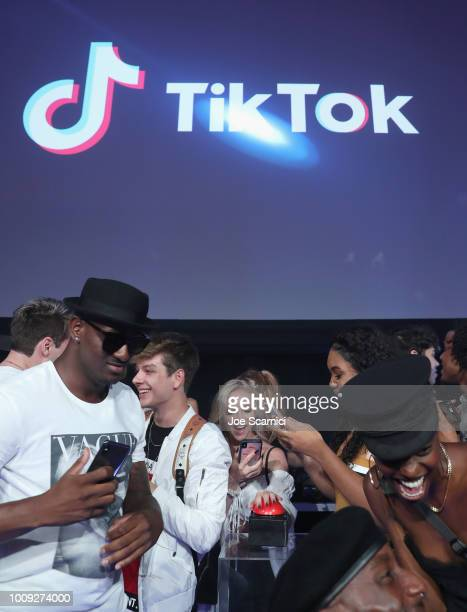 Guests attend the TikTok US launch celebration at NeueHouse Hollywood on August 1 2018 in Los Angeles California