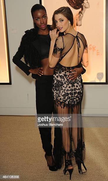 Guests attend the Treats Magazine PreOscar Party at the Treats Villa presented by OMNIA on February 21 2015 in Los Angeles California