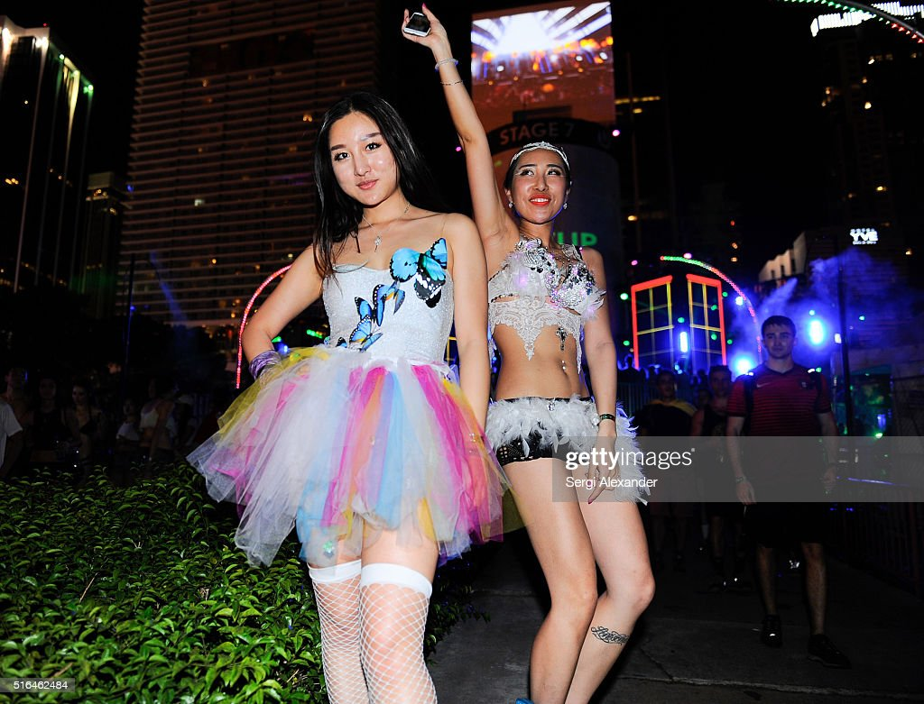 Guests attend the Ultra Music Festival 2016 on March 18, 2016 in Miami, Florida.