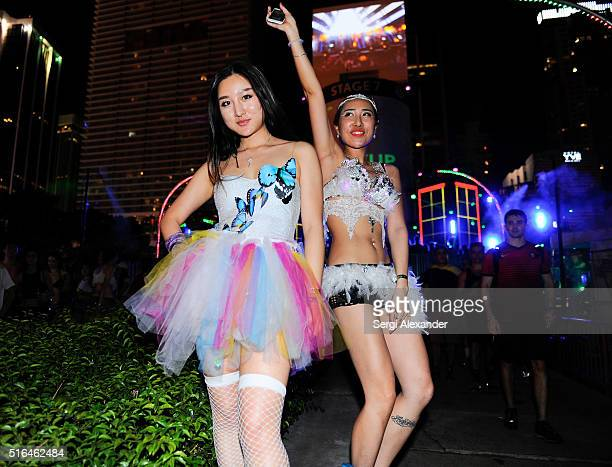 Guests attend the Ultra Music Festival 2016 on March 18 2016 in Miami Florida