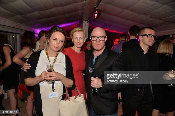 Guests attend the Variety party celebrating the Polish Film Institute's 10th Anniversary at Rado Plage on May 18 2015 in Cannes City