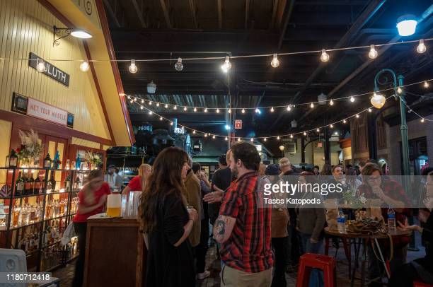 Guests attend the VIP Party Sponsored by Abrams Artists Agency at The Lake Superior Railroad Museum on October 12 2019 in Duluth Minnesota