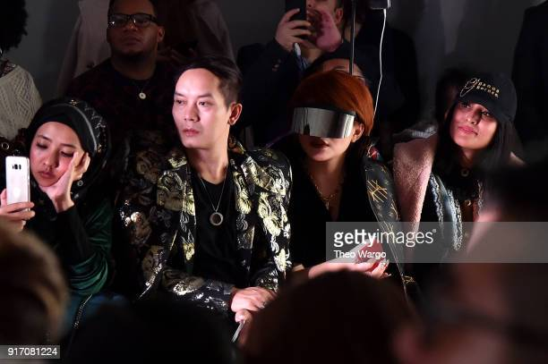 Guests attend the Vivi Zubedi front row during New York Fashion Week The Shows at Industria Studios on February 11 2018 in New York City