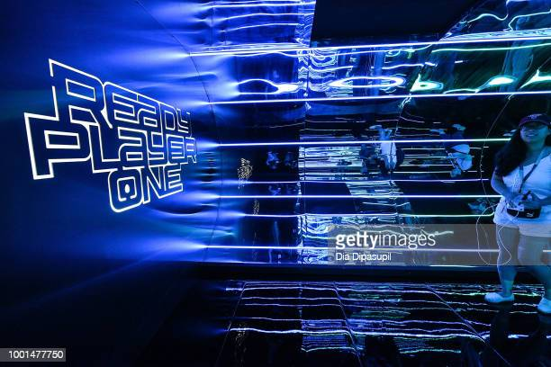 A view of the Warner Bros Home Entertainment 'Ready Player One' experience during San Diego ComicCon at the Omni Hotel on July 18 2018 in San Diego...