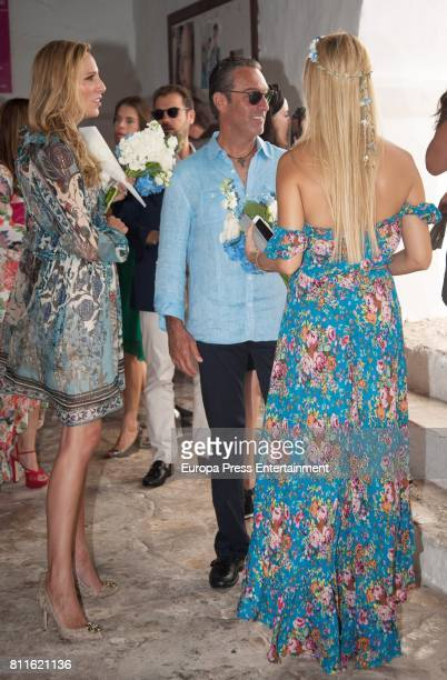 Guests attend the wedding of Guillermo Ochoa and Karla Mora on July 8 2017 in Ibiza Spain