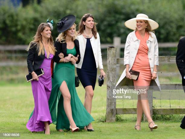 Guests attend the wedding of James Meade and Lady Laura Marsham at The Parish Church of St Nicholas Gayton on September 14 2013 in King's Lynn England