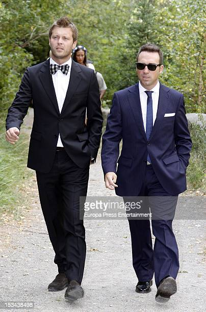 Guests attend the wedding of Juan Pablo Shuk and Ana De La Lastra on September 22 2012 in Biescas Spain